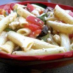 Ensalada griega con pasta @ allrecipes.com.mx
