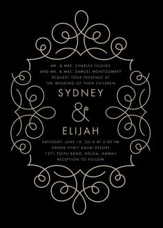 I would change the font but the filigree is really pretty