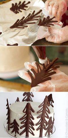 Forest from chocolate