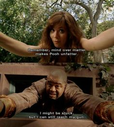 """Pushing Daisies """" Fun in Funeral """" ( 1x03 ) - Chuck and Emerson stuck like Pooh"""