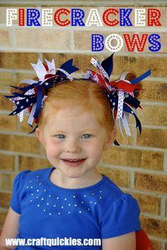 Make your own firecracker hair bows