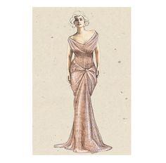sketch for redcarpet old glamour gown #fashion #luxury #style #illustration #vintage #mywork #sparkling