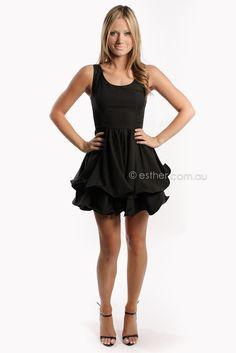 Esther Boutique - pre-order hula girl cocktail dress - black - arrives 14th april
