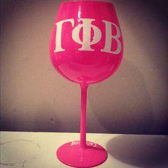 Gamma Phi Beta Personalized Wine Glass by BlessYourHeartGlass, $15.50