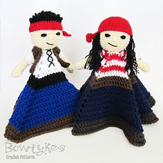 Pirate Matey Lovey crochet pattern by Bowtykes