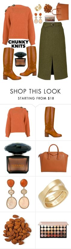 """Chunky Knit"" by creativejenerator ❤ liked on Polyvore featuring Acne Studios, A.P.C., Versace, Givenchy and Cartier"