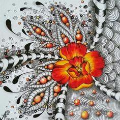 Archív Zentangle - Strana 2 z 10 - Crafting Today Zentangle Drawings, Doodles Zentangles, Zentangle Patterns, Doodle Drawings, Tangle Doodle, Zen Doodle, Doodle Art, Art Zen, Zantangle Art
