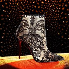 Christian Louboutin 'Gipsy' in Black Marquise Lace