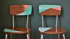 chaises formica CUSTO vinyl adhesif