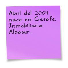 Nacimiento: #ABRIL #2004 #ALQUILER. #Inmobiliaria #Albasur #Getafe.