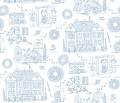 Miss Marple fabric by laura_the_drawer for sale on Spoonflower - custom fabric, wallpaper and wall decals Agatha Christie, Detective, Mystery Crafts, Pattern Art, Print Patterns, Miss Marple, Pattern Wallpaper, Fabric Wallpaper, Geek Out