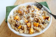 A simple fall recipe full of butternut squash and rosemary.