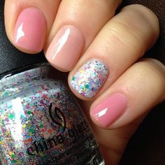 china glaze its a trap-eze! with jelly pink