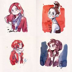 ink girls by Iraville on DeviantArt