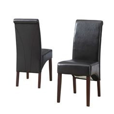Shop Simpli Home Avalon Deluxe Parson Dining Chair (Set of at Lowe's Canada. Find our selection of dining chairs at the lowest price guaranteed with price match. Parsons Chairs, Space Furniture, Furniture Design, Dining Chair Set, Dining Room, Dining Table, Wood Construction, Engineered Wood, Living Spaces