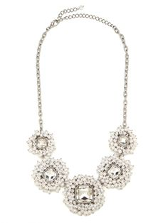 Snow Pearl Cluster Necklace | Baublebar