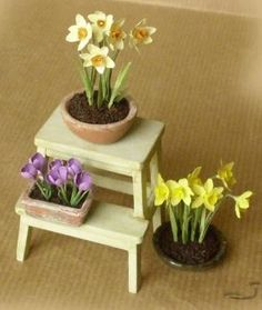 how to: plant display/step stool
