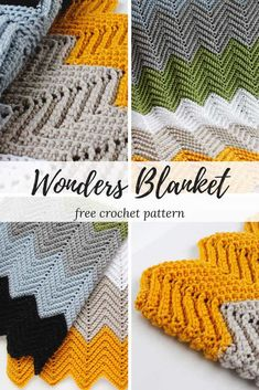 Wonders Chevron Crochet Blanket Pattern - Make this simple and fun chevron design with this absolutely FREE crochet pattern! Find this and many more at www.rescuedpawdesigns.com! Happy Crocheting!