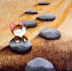cats+in+artwork | catmaSutra cat art of the Day, The Pilgrimage