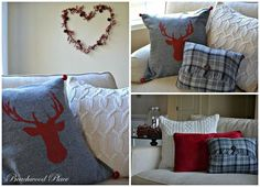 how to make holiday pillows with ideas from the thrift store, christmas decorations, crafts, seasonal holiday decor