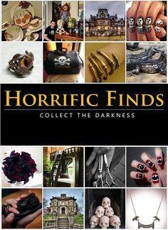 ♥ Horrific Finds - Build the horror collection of your darkest dreams - Skullspiration.com - skull designs, art, fashion and more