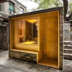 Cha'er Hutong Children's Library and Art Centre in Beijing, China by ZAO, standardarchitecture and Zhang Ke is a winner of the Aga Kahn Award for Architecture.