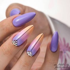 Gentle Ombre With Stones 30 Best Ideas How To Do Ombre Nails Designs Tutor - Care - Skin care , beauty ideas and skin care tips Design Tutorials, Nail Tutorials, Cute Nails, Pretty Nails, My Nails, How To Do Ombre, How To Do Nails, Ombre Nail Designs, Colorful Nail Designs