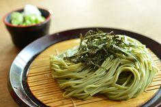 Green tea soba, Cha-soba 茶そば