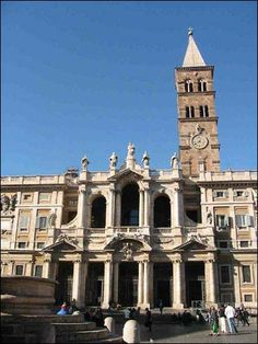 Santa Maria Maggiore, Rome. This church was at the end of our street in Rome & it was so beautiful.
