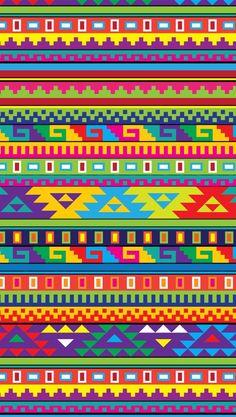 Ethnic Patterns, Loom Patterns, Pattern Art, Pattern Design, Mexican Pattern, Tapestry Crochet, Mexican Folk Art, Bargello, Tribal Art