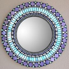 Purple + Turquoise Mosaic Mirror <3