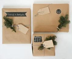 CHALKBOARD PAINTED WRAPPING PAPER