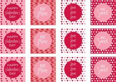 free valentines day printable party circles