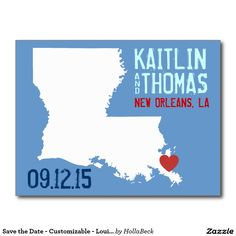 Save the Date - Customizable - Louisiana Postcard