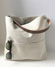 Bucket Bag Woven Linen Handbag Casual Hobo by IndependentReign Flax Weaving, Fabric Bags, Handmade Bags, Purses And Bags, Bucket Handbags, Bucket Purse, Bucket Bags, Tote Handbags, Sewing
