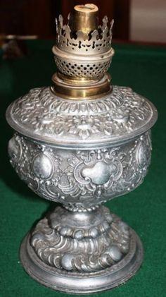 Victorian Era Kerosene oil lamp Duplex Brass Burner Art Nouveau ...