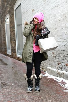 Audrey Huber of A Lovely Escape. Coat - Madewell, Top - J. Crew