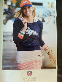 How cute is this Denver Broncos outfit?! No need to sacrifice fashion for your fave team!