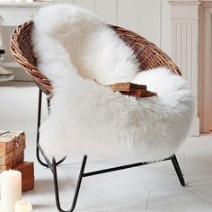 OJIA Deluxe Soft Faux Sheepskin Chair Cover Seat Pad Plain Shaggy Area Rugs for Bedroom Sofa Floor x Ivory White) Bedroom Sofa, Bedroom Flooring, Bedroom Carpet, Living Room Carpet, Bed Room, White Bedroom, Bedroom Apartment, Bedroom Decor, Faux Sheepskin Rug