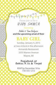 Baby Shower invitation-digital file-you print-I customize-polka dots-4 – old owl press