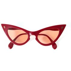 Red Cat-eye sunglasses ($225) ❤ liked on Polyvore featuring accessories, eyewear, sunglasses, cat eye sunnies, red glasses, red cat eye sunglasses, cateye sunglasses and red eyewear