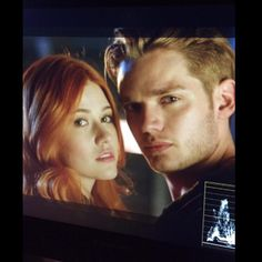 Clary & Jace first #Shadowhunters look