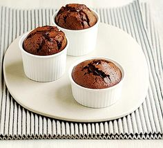 These melting chocolate puddings are much sturdier than ordinary soufflés and will behave even if made ahead (but not cooked) Chocolate Souffle, Chocolate Pudding, Delicious Chocolate, Melting Chocolate, Chocolate Lava, Just Desserts, Delicious Desserts, Dessert Recipes, Yummy Food