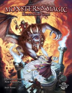 Monsters and Magic - OSR D&D only with more options. If you want to take your game to the next level this is worth picking up. I'm really impressed. Sarah Newton does it again!!! Another good design check out Mindjammer for more goodness in the scifi genre.