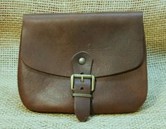Pouch Bag Belt Classic Timeless Leather Brown Nubuck Middle Ages in Collectables, Other Collectables | eBay