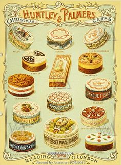 Christmas Cakes. Reading & London. England, 1903