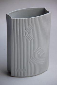Vintage White Porcelain Vase - Hutschenreuther 60s. $58.00, via Etsy.