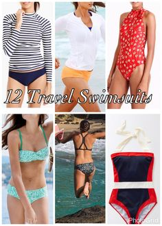 Mackinaw Road: Check out these 12 Travel Swimsuits recommended for a varietly of different activities on your next beach vacation. Packing List For Travel, Packing Tips, Travel Gadgets, Travel Hacks, Travel Ideas, Travel Essentials, Travel Necessities, Best Travel Accessories, Travel Reviews