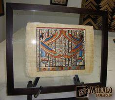 Miralo Enmarcado - Taller de Marcos Cuadros y Espejos: Enmarcado en doble vidrio de papiro egipcio