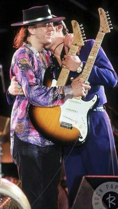 Stevie and Jimmie performing at the Pier NYC June 26,1986